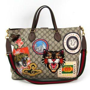 Gucci Courrier Supreme Shopper Tote Handbag